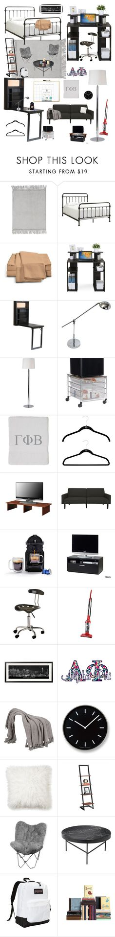 """College Dorms"" by kotnourka ❤ liked on Polyvore featuring interior, interiors, interior design, home, home decor, interior decorating, PBteen, Weston, Southern Enterprises and Simple Designs"