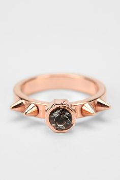 rose gold + slate gem + studded ring