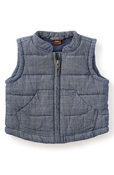 Tea Collection Tea Collection Quilted Chambray Vest (Baby Boys) available at #Nordstrom