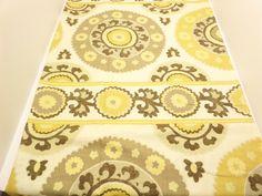 #Richloom #Fabric (2 Yards)  Price: $15.99 per Yard  Suzani Print  Brown, Gold, Grey  100% #Linen          + FREE SAMPLES!!!!  Buy 2 Yards and Save on Shipping !!!!! #fabric #toile #printed #ikat #yardage #blue #supplies #cotton #spring #suzani #luxury #sale #richloom #fabricsamples10 #linen