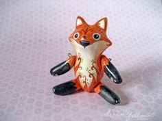 Reynard mini jointed fox art doll
