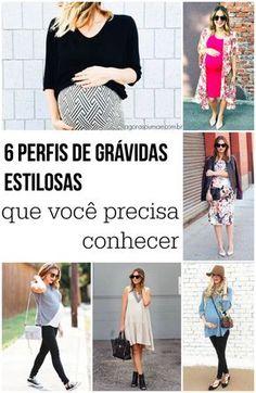 Uma seleção de grávidas estilosas. Inspire-se! Moda Instagram, Maternity Wear, Maternity Fashion, Maternity Style, Fashion Prints, Fashion Design, Mommy Style, Pregnancy Outfits, Maternity Pictures