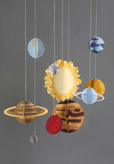 Solar System mobile with paper