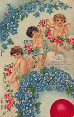 A collection of 8 Vintage Valentine Fairy Images. Valentine's Day isn't just for Cherubs, these cute Fairies are ready to spread some love as well! Valentine Picture, Valentine Images, Vintage Valentine Cards, Vintage Postcards, Vintage Images, Cupid Images, Victorian Valentines, Vintage Fairies, Graphics Fairy