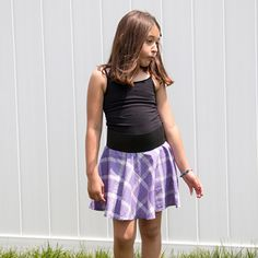 Elastic waistband circle skirt. This style is limited edition due to the vintage nature of the fabric that marks back to 70s! The fabric was sourced 10 years ago in grandmas basement stash. This skirt is made of 100% cotton plaid printed fabric. $25 #kidstyle #kidsclothing #forsale #girls #skirts #fashion #style