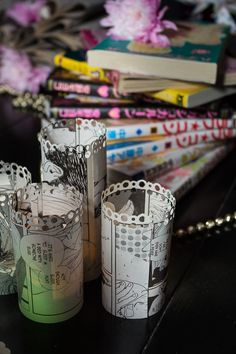 Manga-inspired engagement party: Come for the incredible DIY decor and rainbow cake, stay for the tutorials! rework for geek sixteen party Anime Diys, Anime Crafts, Sweet 16 Decorations, Diy Wedding Decorations, Wedding Centerpieces, Diy Craft Projects, Decor Crafts, Origami, Otaku