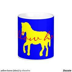 yellow horse (eliso) taza básica blanca