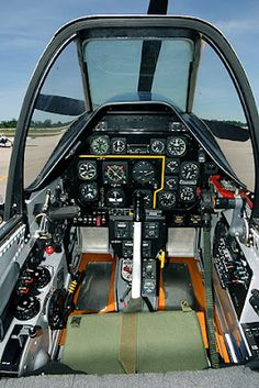 Cockpit in the plane of my dreams, a North American Mustang! Ww2 Aircraft, Fighter Aircraft, Military Aircraft, Fighter Jets, Image Avion, Flight Deck, High Flight, P51 Mustang, Ww2 Planes