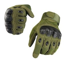 From 11.69 Fuyuanda Men's Full Finger Gloves Sports Gloves With Knuckles Protection For Camping Hiking Cycling Hunting Riding Outdoor Activities A6 (olive Medium)