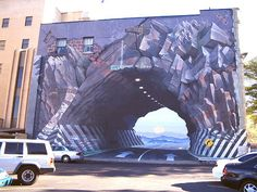 Tunnel Vision - a  mural by Blue Sky, a Columbia (South Carolina USA) artist