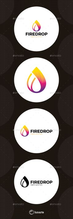 Fire Water Drop Logo  — EPS Template • Only available here ➝…