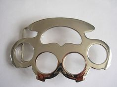 Knuckle Duster Shape 3d Belt Buckle Leather Snap on Belts Outlaw Silver Buckles