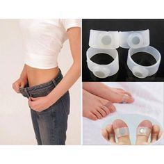 1 Par de Adelgazamiento Herramientas de Silicona Anillo Del Dedo Del Pie Cuerpo Pérdida de Peso Quema de Grasa Para Bajar de Peso Cuidado de La Salud Del Pie masaje