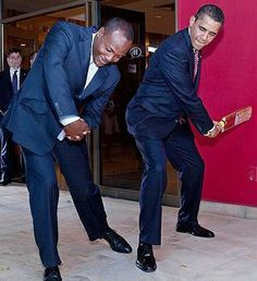 President Obama's encounter with cricket .  Brian Lara gives President Barack Obama a cricket lesson during the Summit of the Americas in Trinidad, April 2009. Photo by Pete Souza.  Not cricket...all politicians disqualified...except some who do qualify!!