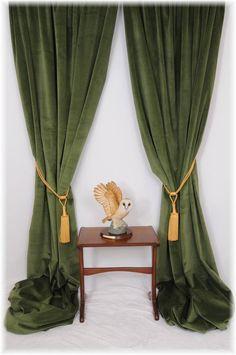 Superb Forest/Spruce Green Velvet Curtains ~ Bespoke Service - All Sizes MTM ~ | Home, Furniture & DIY, Curtains & Blinds, Curtains & Pelmets | eBay!