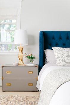 Color Inspiration for your Bedroom: Pops of blue.