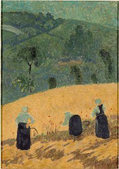"""""""La Moisson"""" de Paul Sérusier (1863-1927). Nantes, musée des Beaux-Arts - Photo (C) RMN-Grand Palais / Gérard Blot"""