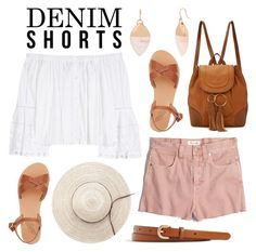 """""""Denim Day Out"""" by twenty-7 ❤ liked on Polyvore featuring Kenneth Cole, Madewell, Carolina Herrera, See by Chloé, Ancient Greek Sandals, J.Crew and DENIMCUTOFFS"""