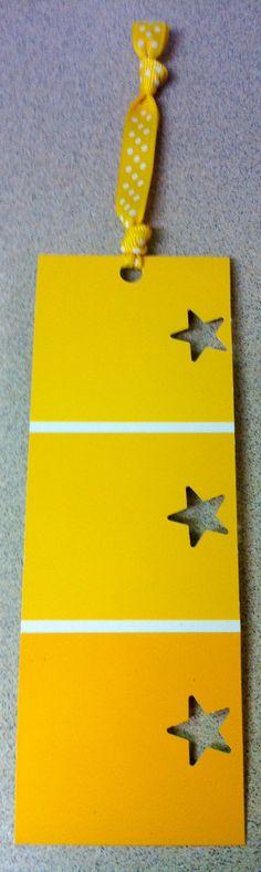 Yellow paint swatch bookmark by ShinyPlasticShop on Etsy, $2.50