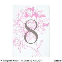結婚式のテーブルの第|明るい赤紫色の花のシャクヤクのデザイン 8.9 X 12.7 インビテーションカード