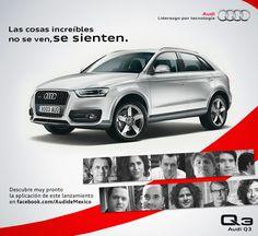 Hay miles de formas de sentir Audi Q3, nosotros te presentamos diez. Conoce el nuevo significado de deportividad y eficiencia: https://www.facebook.com/AudideMexico/app_120782841400101