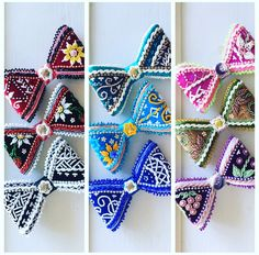 Haudenosaunee Raised Beadwork Bows available! Message if interested :) located in Oneida, Wisconsin -Yaw^ko! ☺️ (The black/strawberry pair is sold & purple bow are sold) *Other 7 are available* #FCFS email francour21@gmail.com if interested