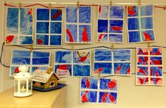 OpenIdeat: joulutarina Primary School Art, Art School, Christmas Crafts To Make, Hobbies And Crafts, Art Lessons, Gallery Wall, Frame, Painting, Art Ideas