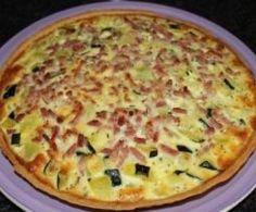 Tarte Moutarde Courgette Oignon Crème Fraiche Allumette Lardon Fumé