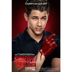 Scream Queens Debuts 15 Bloody Gorgeous Character Posters ❤ liked on Polyvore featuring home, home decor, wall art, fox home decor, fox poster and fox wall art