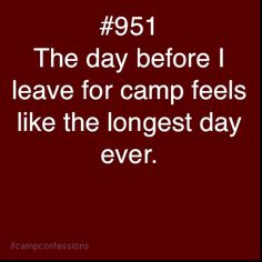 My sister got me thinking about camp today. It's all her fault that I'm going to blow Pinterest up.