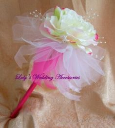 flower wands instead of bouquets