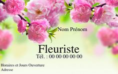 Carte De Visite Fleuriste Crez Gratuitement Partir Modle En Ligne Votre