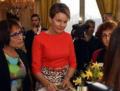 Queen Mathilde of Belgium and King Philippe of Belgium met with the winners of 2012, 2014 and 2016 Nobel's Women of Peace Prize at the Royal Palace on 08 March 2017 in Brussels, Belgium. These women are active in civil society and are mobilizing for women's rights, building or maintaining peace and dialogue. The meeting takes place in the framework of the Women's Day.