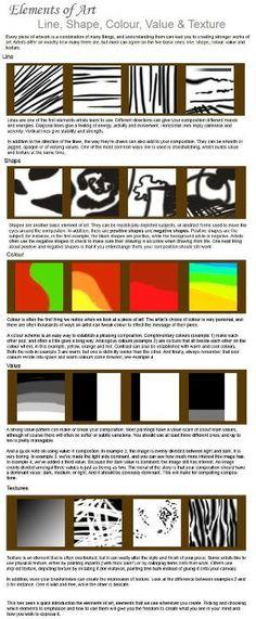 Elements Of Art Worksheets | Elements of Art by by Betoken