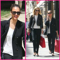 Jessica Alba's Black pants and blazer
