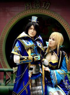 Sima Shi and Wang Yuan Ji cosplay, Dynasty Warriors 7