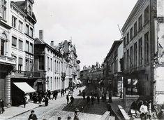 Meir, voor de verbreding, Antwerpen ca.1898.