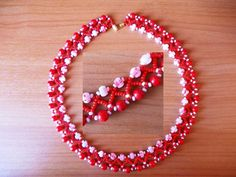 Beads Magic pattern necklace Red Desert