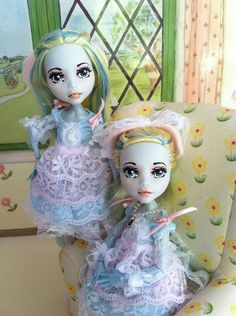 Custom Monster High Dolls Twin Ballerina Rose and Lilac OOAK Repaint | eBay