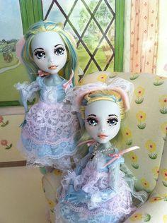 Custom Monster High Dolls Twin Ballerina Rose and Lilac OOAK Repaint | eBay