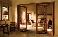 Wood Bi-Fold - mediterranean - interior doors - - by Southland Windows, Inc.