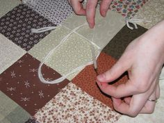 How to tie a quilt