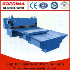 Hydraulic Guillotine shearing machine with feeding table