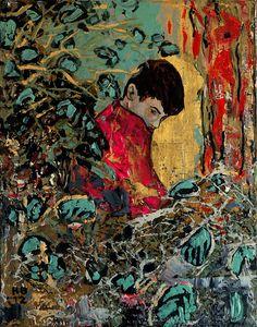 hernan bas art | Hernan Bas, Unknown poet in a bramble (he hated nature themes),…