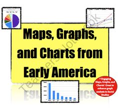 Charts, Maps, & Graphs from Early America: 7 activities to teach skills! from Mr Educator on TeachersNotebook.com (12 pages)  - Enjoy 7 charts, maps, and graphs about early America to help with data prep!
