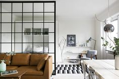 Interior Flat, Small House Interior Design, Home Design Living Room, Small Space Design, Small Spaces, Big Design, Interior Ideas, Small Apartment Living, Small Apartments
