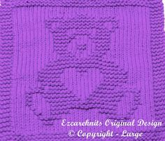 Knitting  Cloth Pattern    SWEETHEART BEAR  PDF