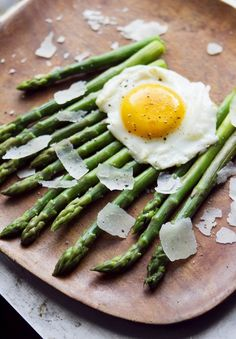 Steamed Asparagus with Fried Egg and Pecorino | A Thought For Food