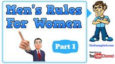 Men's Rules For Women. The Rules Book For Women By Men. #jokes, #women, #funnyjokes, Men Jokes, Funny Jokes, Really Funny Joke, Man Rules, Man Parts, Pranks, Humor, Learning, Books