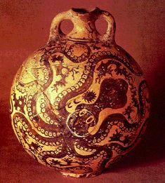 SZTUKA EGEJSKA: waza kreteńska z ośmiornicą